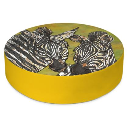 Zebras Round Floor Cushion