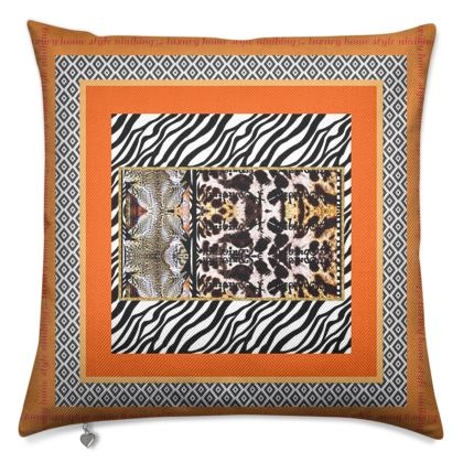 Premium luxury cushion, 50 x 50 cm COGNAG CLASSIC