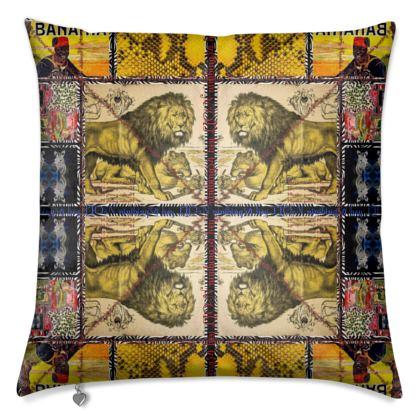 Premium Kissen AFRICAANS yellow Tiger