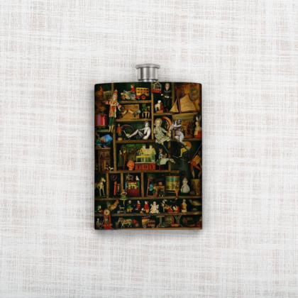 In the Toy Cupboard Hip Flask