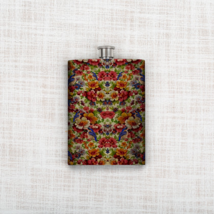 Kingfisher Chintz Hip Flask
