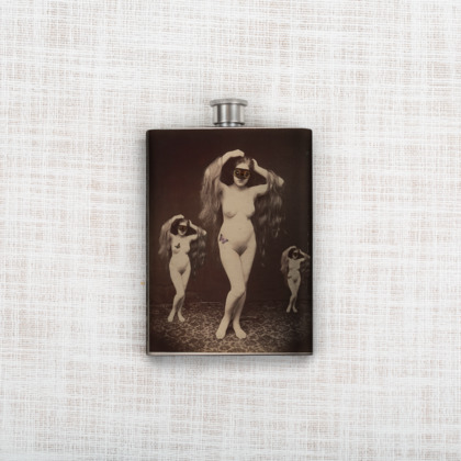 Triple Musing Hip Flask