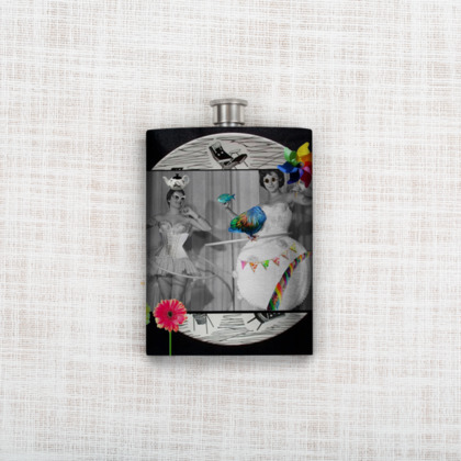 Hooping Homemakers Hip Flask