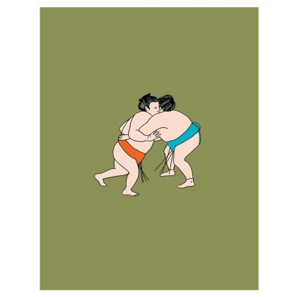 Sumo Duo Khaki Green Sweatshirt