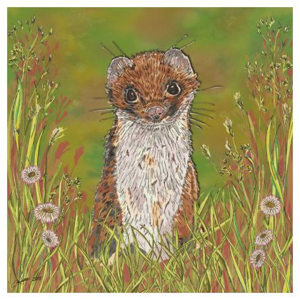 Summer Stoat Coasters
