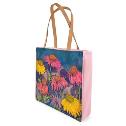 Colourful Coneflowers Shopper Bag