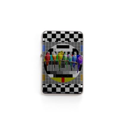 Test Card and Rainbow Budgies Lighter