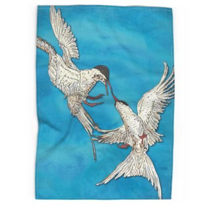 Arctic Terns Tea Towel
