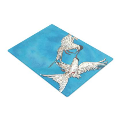 Arctic Terns Glass Chopping Board
