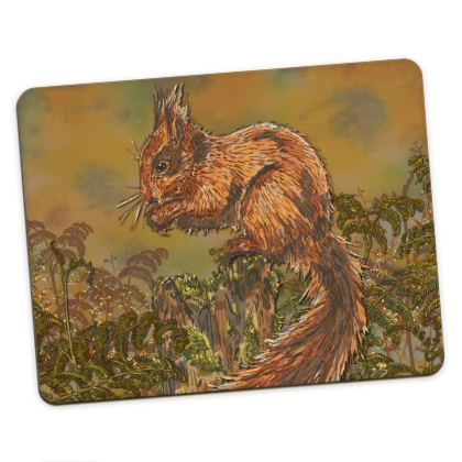 Wild Animals Placemat Set (Squirrel/Stoat)