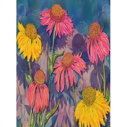 Colourful Coneflowers Tray