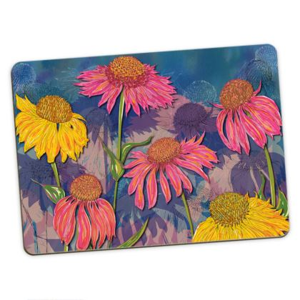 Colourful Coneflower Large Placemats