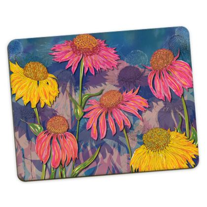 Colourful Coneflowers Placemat