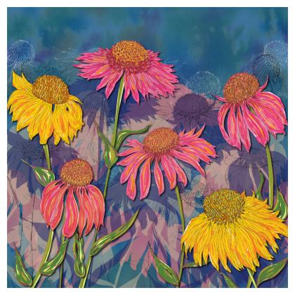 Colourful Coneflower Coasters