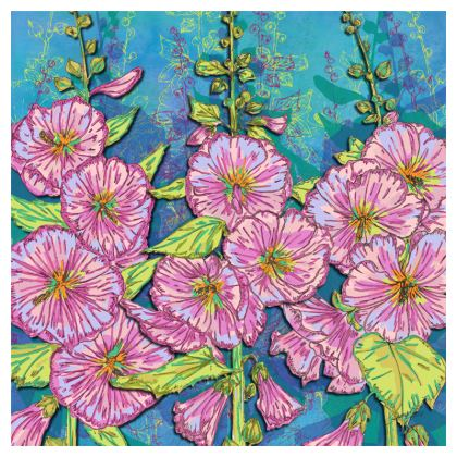 Hollyhocks Coasters