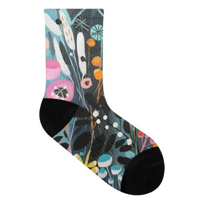 Socks in Natalie Rymer Wild Flowers design