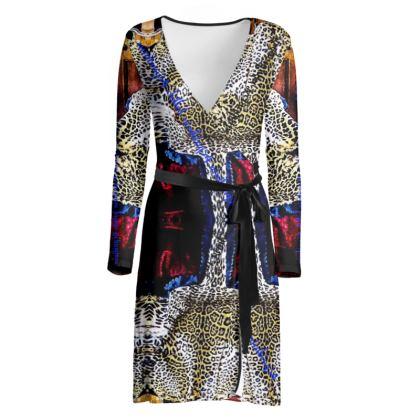 225,50 Wickelkleid soft Fashion Jersey Wrap DDESIGNER DRESS size 38