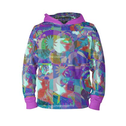 Sweat à Capuche la vie est plus belle en couleurs: taille XS30/32-taille-54/62cm-poitrine-72/80cm-hanches-79/87cm