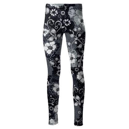 High Waisted Sport Leggings- Ink