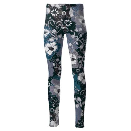 High Waisted Sport Leggings - Ocean