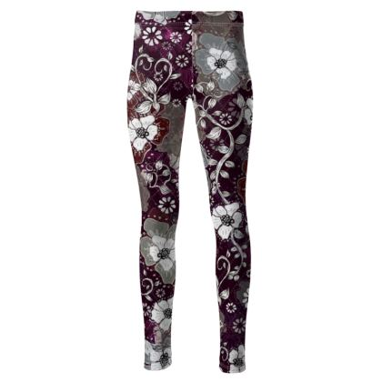 High Waisted Sport Leggings - Purple