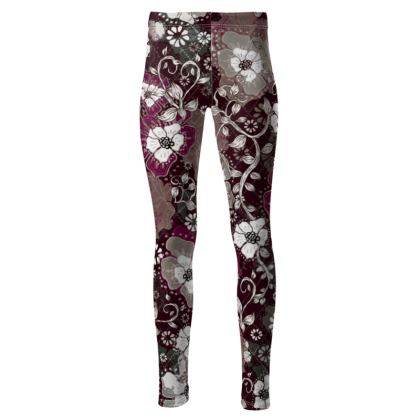 High Waisted Sports Leggings - Fushia