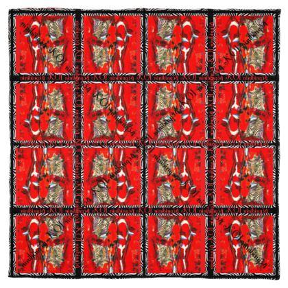 KOI RED 115 x 115 cm #ninibing34 #koi