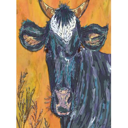 Colourful Cow Tray