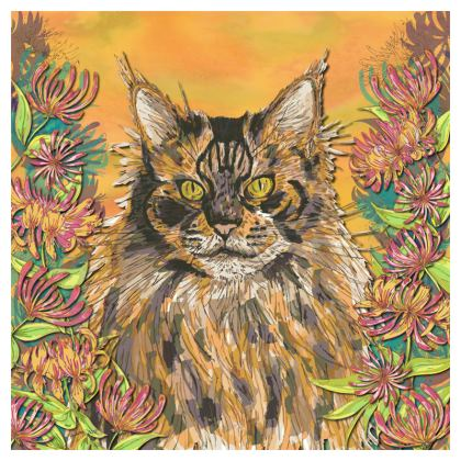Fluffy Cat Coasters