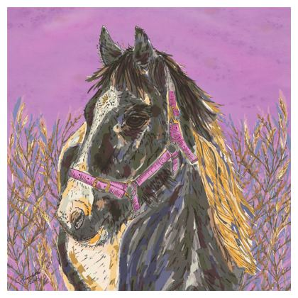 Horse with the Golden Mane Coasters