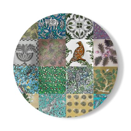 Decorative Plate with Miscellany Design in Multi-colour