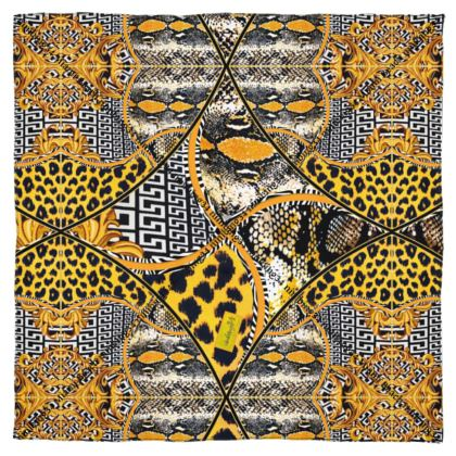 MIAMI CHIC yellow #ninibing34 LEOPARD 100% seidensatin