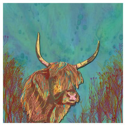 Highland Cow Coasters