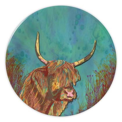 Highland Cow China Plate