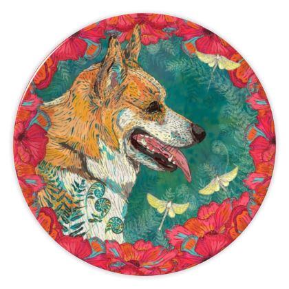 Corgi China Plate