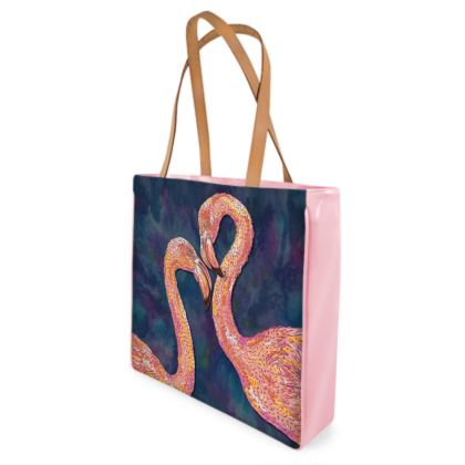 Pink Flamingos Shopper Bag