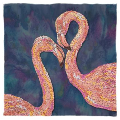 Pink Flamingos Scarf Wrap or Shawl