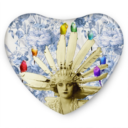 My Budgie Headdress Sweet Heart Tin