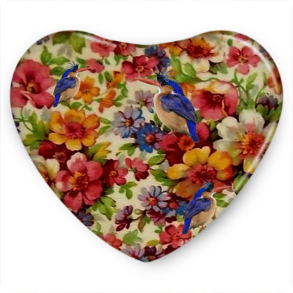 Kingfisher Chintz Sweet Heart Tin