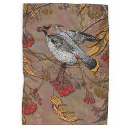 Waxwing Tea Towel