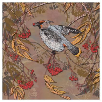 Waxwing China Plate