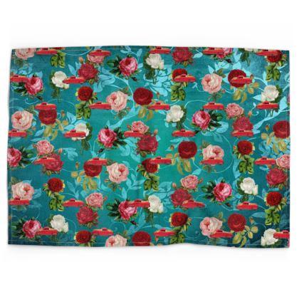 Cars n Roses Tea Towel