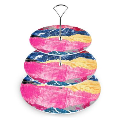 Cake Stand - The colourful textures