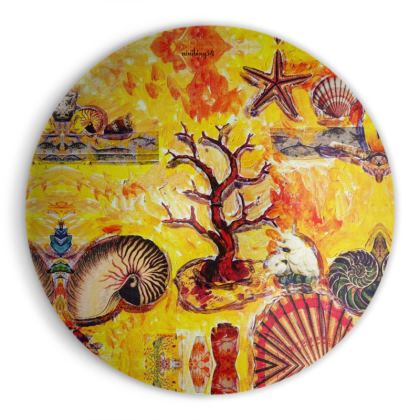 218,-  MEDIUM BOWL Designer Schale aus Stonemax mit 37 cm MOTHER OF PEARL