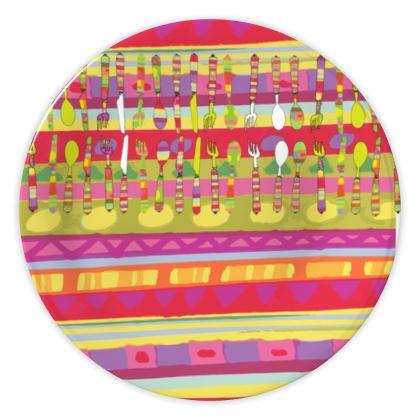 China Plates - Knife Folk Spoon