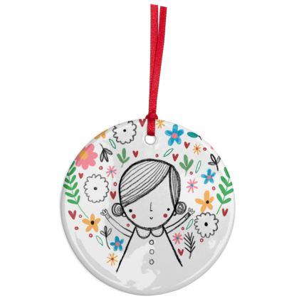I love you mummy - ceramic heart hanging decoration