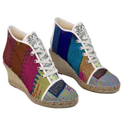 Funky Ladies Wedge Espadrilles.  © Copyright Joanne Shaw.  All rights reserved.