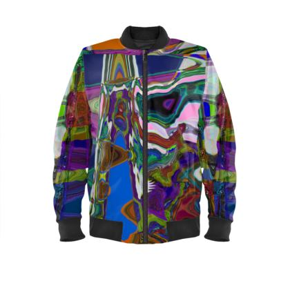 Ladies Multi Colored Bomber Jacket.   © Copyright Joanne Shaw.  All rights reserved.