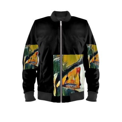 Mallard Duck Mens Bomber Jacket.  © Copyright Joanne Shaw.  All rights reserved.