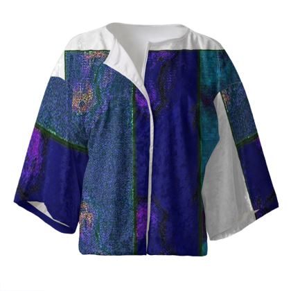 Blue Modern Kimono Jacket.  © Copyright Joanne Shaw.  All rights reserved.